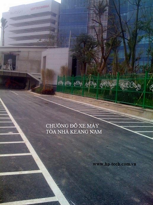 Sơn kẻ vạch bãi đỗ xe tòa nhà Keang Nam