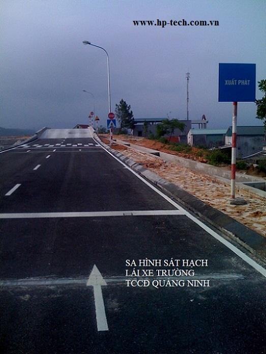 Sa hình sát hạch lái xe Trường TCCĐ Quảng Ninh