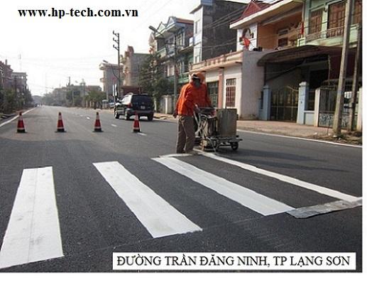 Sơn kẻ đường Trần Đăng Ninh Lạng Sơn